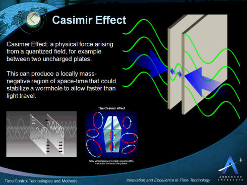 Casimir Effect Time Control and Time Travel