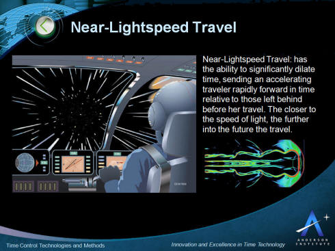 Near-Lightspeed Time Control and Time Travel