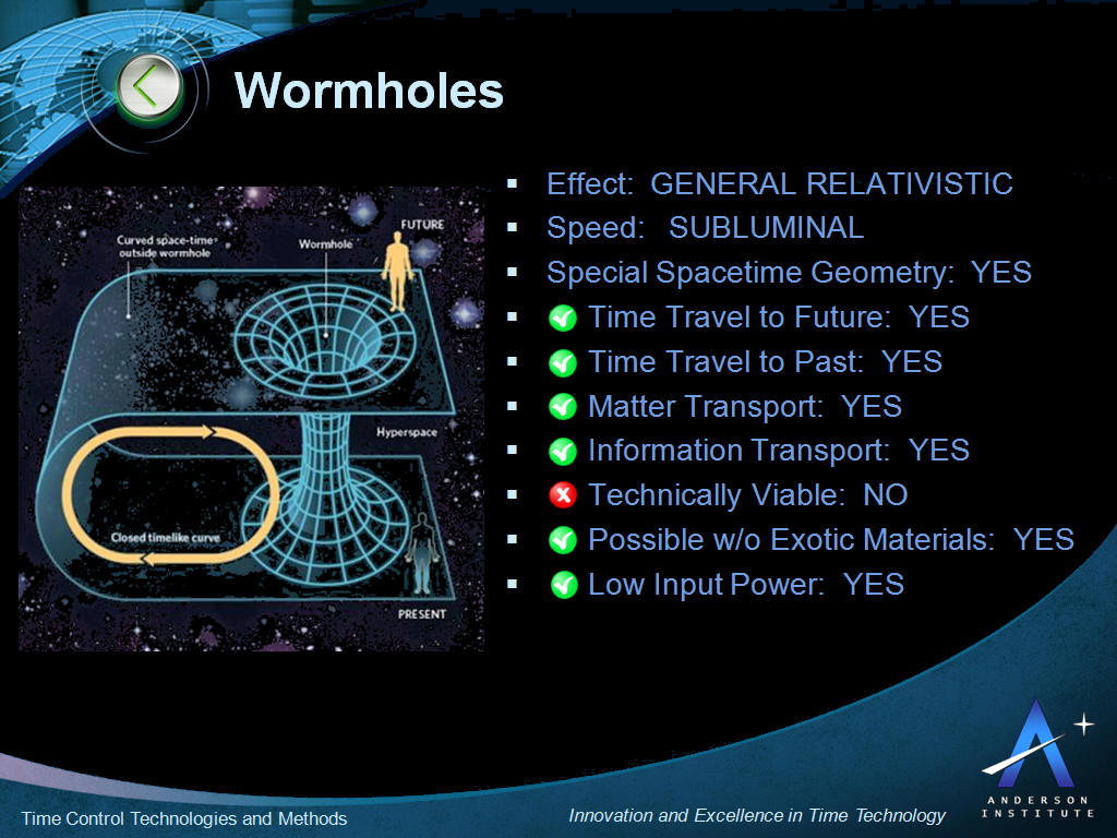 Wormhole Time Travel